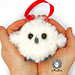 Baby Owl Crochet Tree Ornament pattern