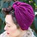 Herringbone Lace Turban pattern