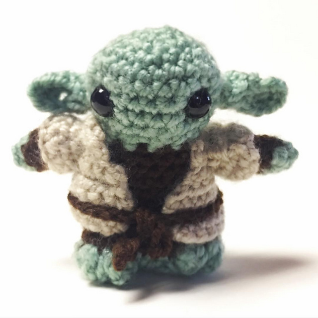 Star Wars Yoda Crochet Patterns | Idee creative | Idee creative ... | 640x640