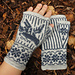 Lentoon Fingerless Mittens pattern