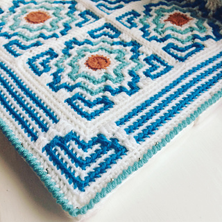 here you can see my baby terrazzo with the official border that comes in the pattern.