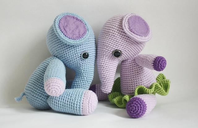 Crochet Elephant Softie and More Free Patterns Tutorials   Crochet ...   414x640
