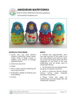Crochet Matryoshka Russian Dolls #Amigurumi #pattern #toys ... | 320x247