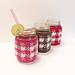 Gingham Mason Jar Cozy pattern