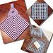 Gingham Plaid Mosaic Towels, Cloth pattern