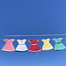 Holiday Dress Ornament - Bunting pattern
