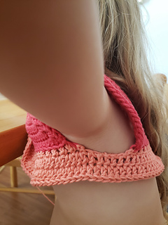 Armhole modification - chain 4 to join