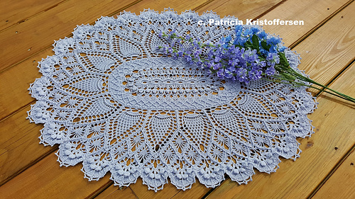 Pineapple Song Oval as a doily