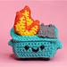 Dumpster Fire amigurumi pattern