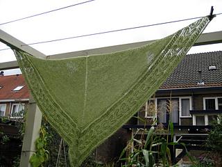 Triangular shawl from Onundarfjordur