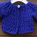 Cardigan or Smock Top with Chevron Design pattern