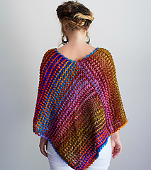 With its soft hand and feminine edging this poncho will be come a wardrobe staple for you or the person lucky enough to have received it from you.