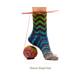 Uneek Chevron Toe Up Sock pattern