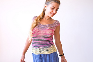 Worn on the shoulder or off, this tank top, this tank was designed to make the most of the unique striping quality of Uneek.