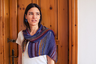 Knit from side to side let the yarn do all the color work for you