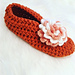 Slippers with flower pattern