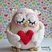 Valentine's owl pattern