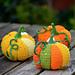 Patchwork pumpkin pattern