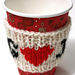 Heart warming cup sleeve pattern