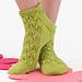 Leaf socks pattern