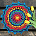 Technicolor Dream Mandala pattern