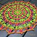 Raspberry Beret Mandala pattern