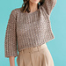 #06 Cropped Eyelet Pullover pattern