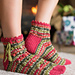 Holly Berry Christmas Socks pattern