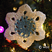 Retro Crochet Snowflake Ornament pattern