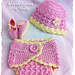 Cotton Candy Baby Hat, Diaper Cover and Shoe Set pattern
