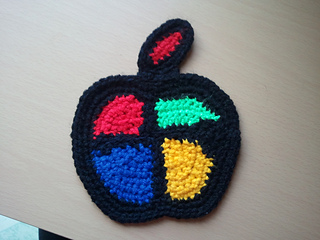 Crochet Mini Apple Keychain Amigurumi Free Patterns : Crochet Mini ... | 240x320