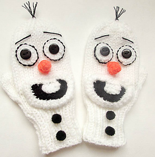 Frosty the frozen snowman chocolate Christmas in Olaf white KNITTING PATTERN