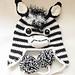 Zebra Earflap Hat pattern