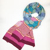 Stripy Fair Isle scarf