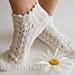 Summer Socks in Lace Daisy - Sommersöckchen Daisy pattern