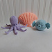Ocean Toys: Octopus, Scallop, Pufferfish pattern