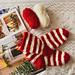 Santa's Fuzzy Socks pattern
