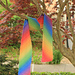 Diagonal Rainbow Rib pattern