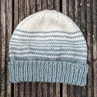 """Easy peasy stripey beanie - """"right way out"""""""
