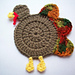 Gobble Coaster pattern