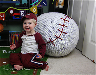 Fabulous Baseball Bean Bag Chair Pouf Pattern By Yarn Twins Ncnpc Chair Design For Home Ncnpcorg