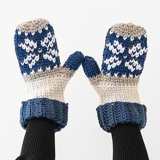 Fair Isle Crochet Mittens