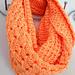 Orange infinity scarf pattern