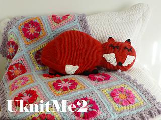 Finger Crochet Fox Pillow PATTERN PDF FILE Black Friday