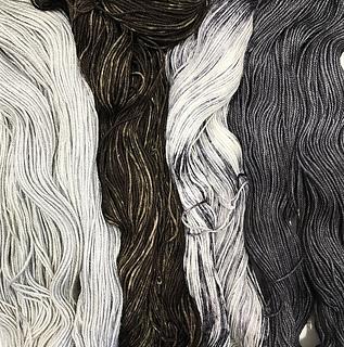 StevenBe's Expecto Patronum Kit featuring Anzula Nebula, Urth Monokrom, Three Irish Girls Binge Knit Sock, & Hedgehog Sock