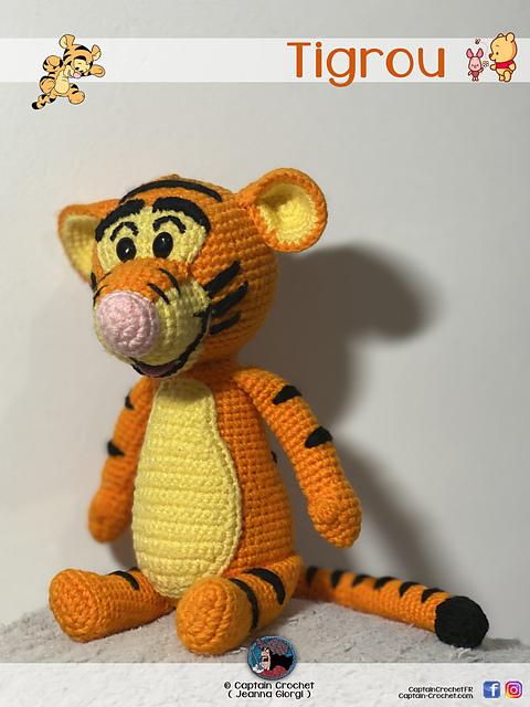 Romeo the Tiger amigurumi pattern - Amigurumi Today | 640x480