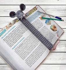 244 Crochet Pattern - Rat or Mouse Bookmark or decor - Amigurumi PDF file  by Zabelina CP   240x227