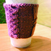 Double Cable Cup Cozy pattern