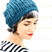 Worsted Popcorn Lace Hat pattern