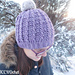 Trinity cabled hat pattern